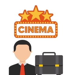 cinema concept design vector image