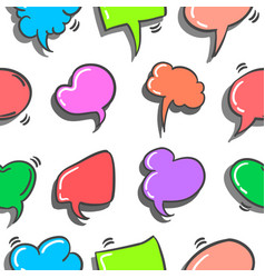 doodle of text balloon style colorful vector image