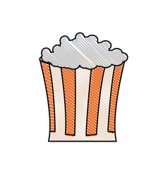 Drawing pop corn food celebration party patrotic vector