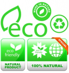 eco signs vector image