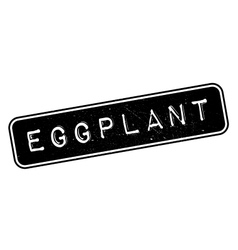 Eggplant rubber stamp vector image vector image