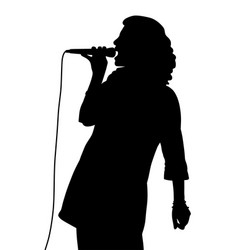 female singing vector image