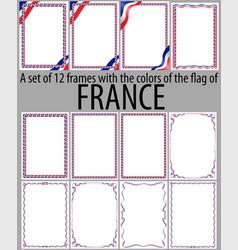 Flag v12 france vector