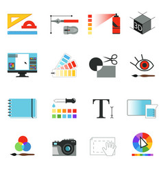 graphic or web designers tools different working vector image