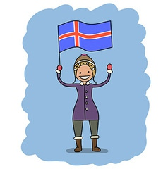 iceland flag vector image vector image