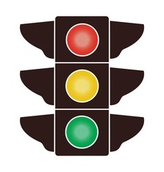 icon of traffic light vector image vector image