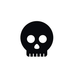 isolated head icon skeleton element can be vector image