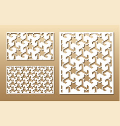 laser cut panel vector image vector image
