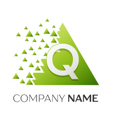 Letter q logo symbol in colorful triangle vector