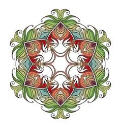 Mandala mehndi lace tattoo art nouveau weave vector