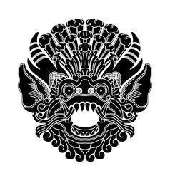 mythological ethnic gods head vector image