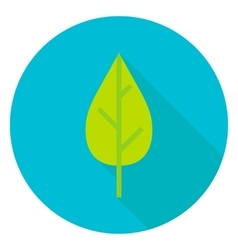 Nature Leaf Circle Icon vector image vector image