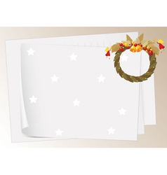 paper sheets and bells vector image vector image