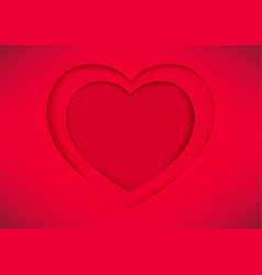 red heart shape paper vector image