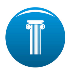 Roman column icon blue vector