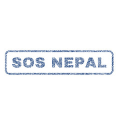sos nepal textile stamp vector image vector image