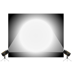 Stand and spotlights vector