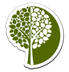 tree emblem 1 isolated on white vector image vector image