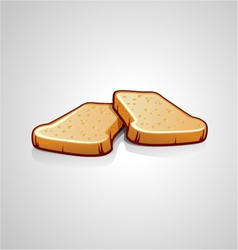 two slices of bread vector image vector image