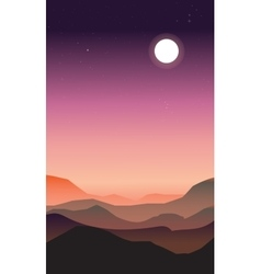 Abstract landscape of a dawn vector