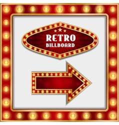 retro billboard and arrow vector image