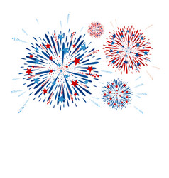 Fireworks design on white background vector
