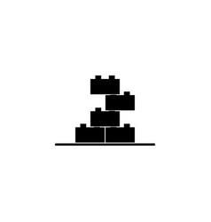 building block toy icon vector image