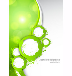 Abactract green background vector