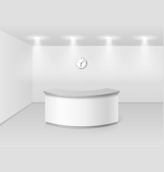 Office or hotel interior with reception counter vector