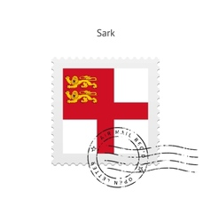 Sark flag postage stamp vector