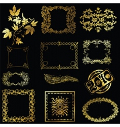 Gold design elements vector