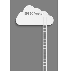 Cloud and ladder vector