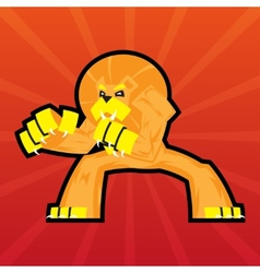 Team logo battle claws lion symbol sport mascot vector