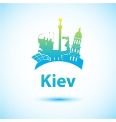 Silhouette of kiev vector