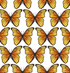 Seamless pattern with bright butterflies vector