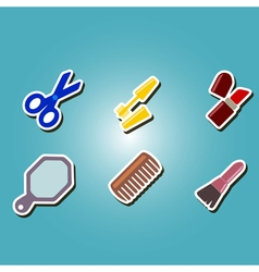 Color icons with female stuff vector