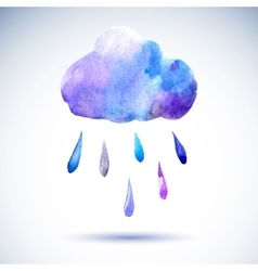 Cloud with rain vector