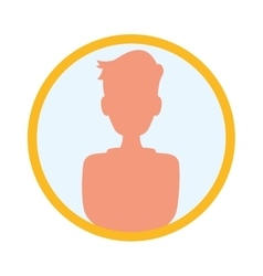 Person profile silhouette vector
