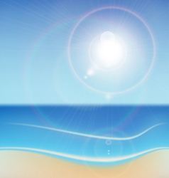 Seascape background vector
