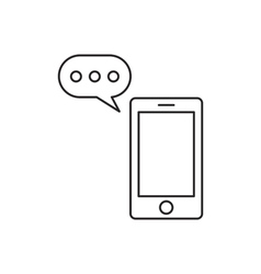 Communication icon outline vector