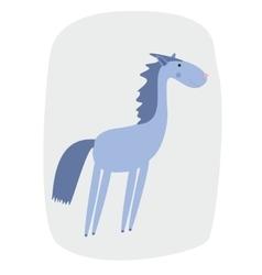 A cartoon horse vector