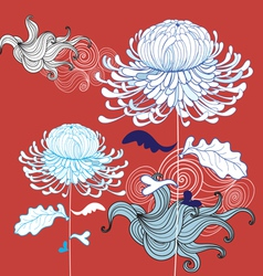 beautiful chrysanthemum vector image vector image