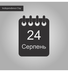 Black and white style icon of calendar ukraine vector