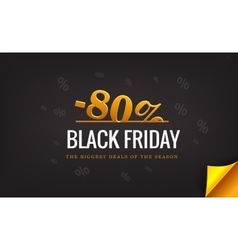 Black friday banner with percent discount big vector