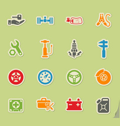 Car shop icon set vector
