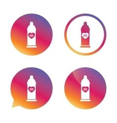 Condom safe sex sign icon barrier contraceptive vector