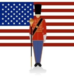 Conductor of of a military band usa vector