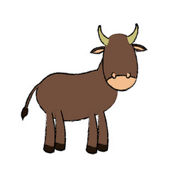 Cow manger animal vector