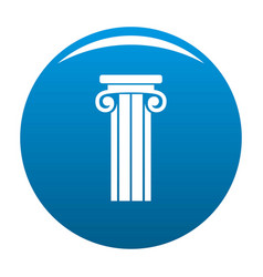 French column icon blue vector