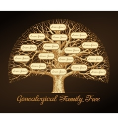 Genealogical family tree dynasty vector